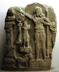 the figure in the relief from Amaravati, most likely to be Ashoka
