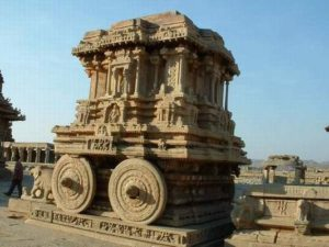 Hampi- Stone chariot in Vittala temple (Vijayanagara Empire)