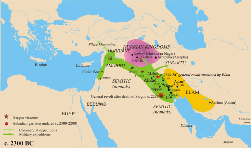 Map of Akkadian Empire