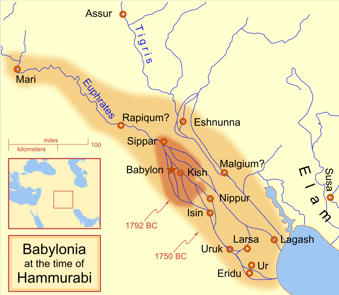 Babylonian Empire during Hammurabi
