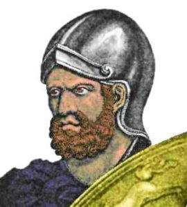 portrait showing the Hannibal Barca, Commander General of Carthaginian Empire