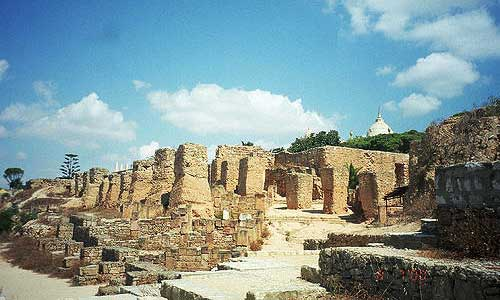 Remains of Carthage city after Punic Wars