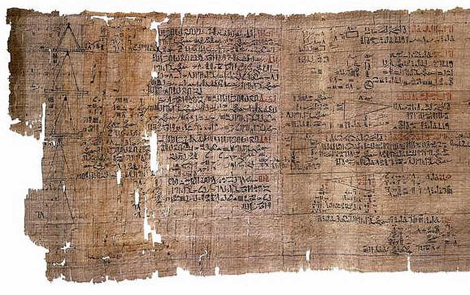 Rind Mathemetical Papyrus, one of the oldest mathematical document of the world